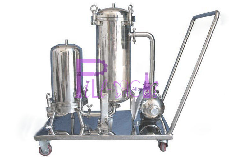 320kg Beverage Syrup Filter For Soft Drink Processing Equipment SUS304 1.5mm Single Layer